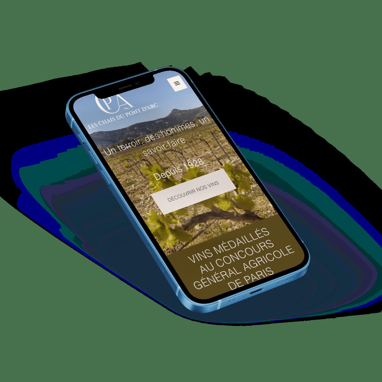 site e-commerce pour les Chais du Pont d'Arc